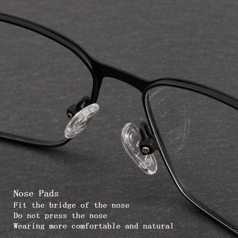 metal frame men fashion clear glasses myopia optical prescription computer blue light glasses frames narrow border design 367 in eyewear frames from mens