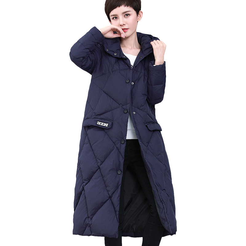 Down   Jacket Woman Hooded Parka Winter   Coat   Women Long   Coat   Fashion Women   Down   Jacket Female Loose Casual   Down   Parkas YP2122