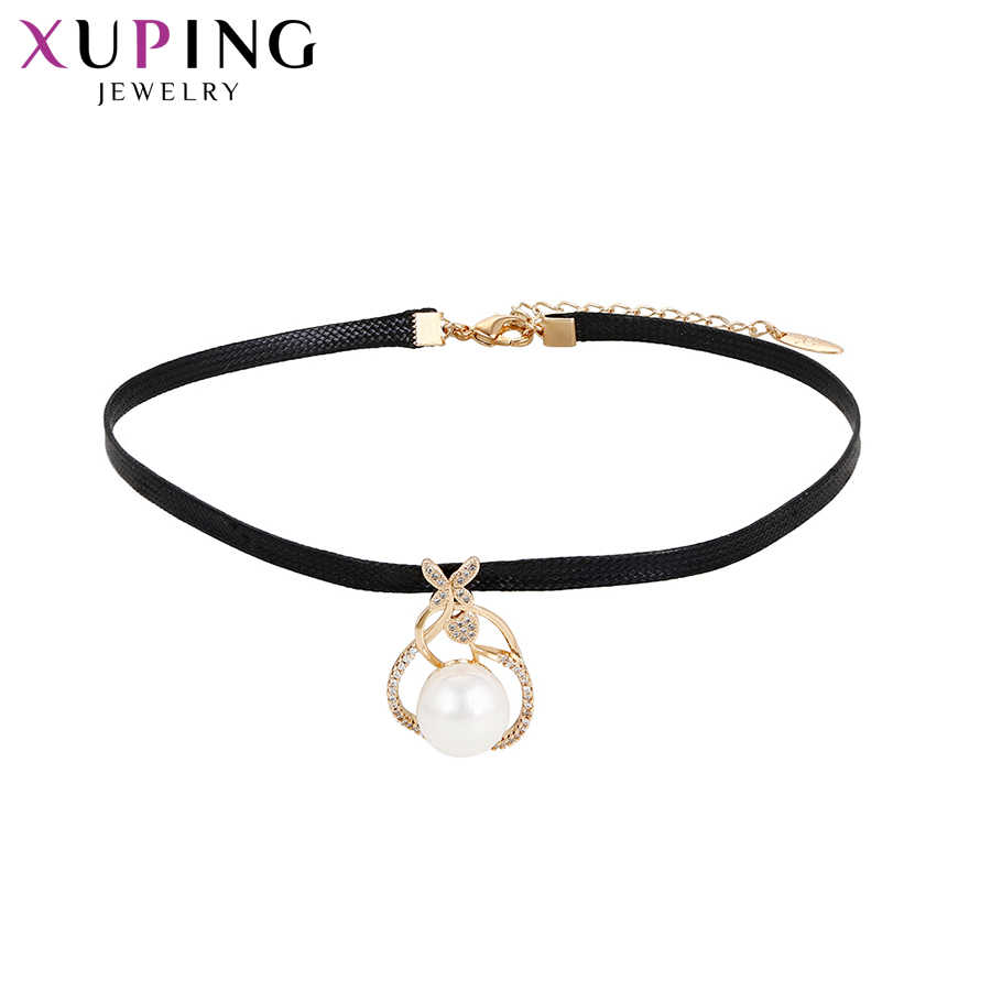 Xuping Fashion Elegant Necklace Charm Style Choker Necklace Women Girls Chain Christmas Jewelry Gift S74-44043