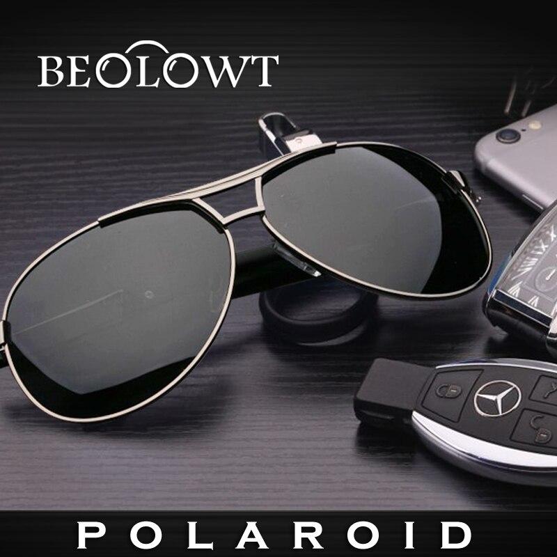 7b1040426f5ad4 BEOLOWT Marque De Mode Polaroid lunettes de Soleil hommes Polarisée Conduite  En Aluminium En Alliage de Magnésium Lunettes de Soleil pour hommes BL308