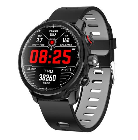 <font><b>L5</b></font> <font><b>Smart</b></font> <font><b>Watch</b></font> <font><b>Men</b></font> <font><b>IP68</b></font> Waterproof Multiple Sports Mode Heart Rate Weather Forecast Bluetooth Smartwatch for iphone android image