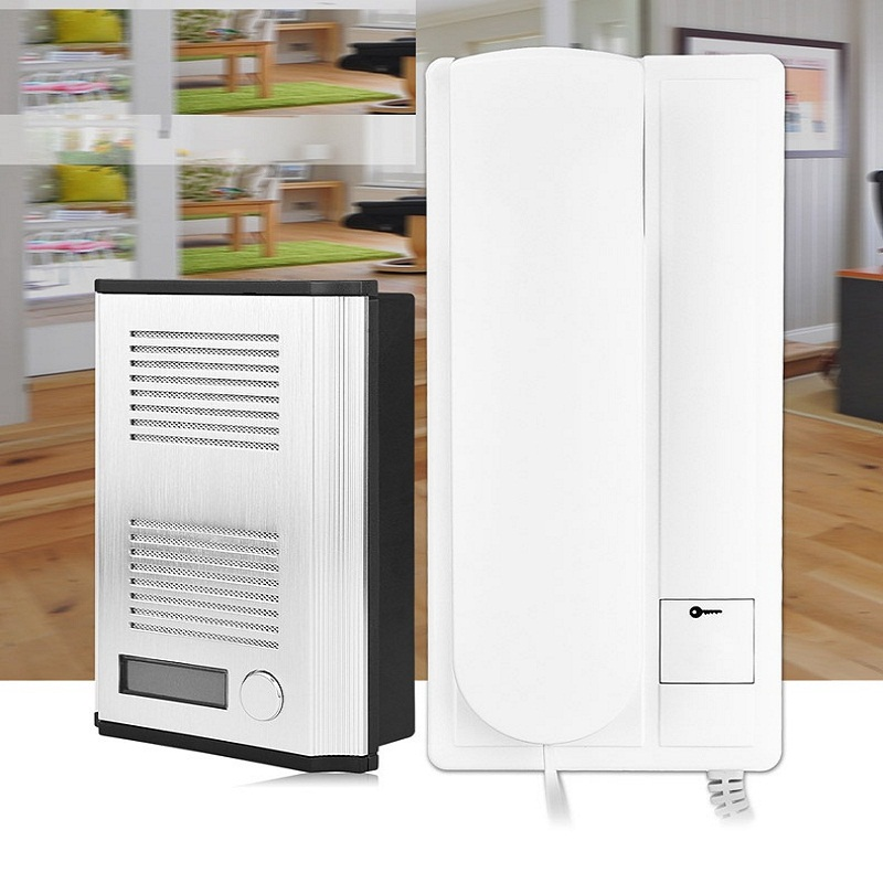 Sonnette Audio de portier de sécurité à la maison d'appartement de BF-3206B, fonction de déverrouillage de système d'interphone de 2 fils