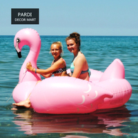 Ins Summer Hot L/S size Pink Flamingo riding swimming ring Party Inflatable swimming ring swim props party supplies