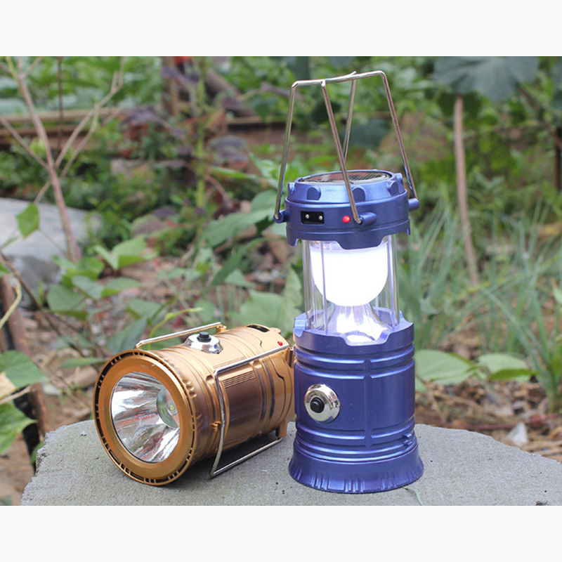 multy function hand lamp and flashlight led solar powered lamp garden and fishing bettery powered solar lights