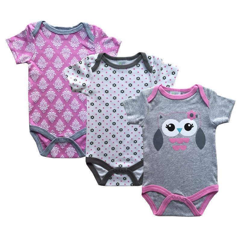 Summer Baby Rompers O-Neck Cotton Baby Clothing Set Fashion Baby Girl Boy Clothes Newborn 3pcs/lot ropa bebes Cartoon Overalls fashion baby clothes cartoon baby boy girl rompers cotton animal and fruit pattern infant jumpsuit hat set newborn baby costumes