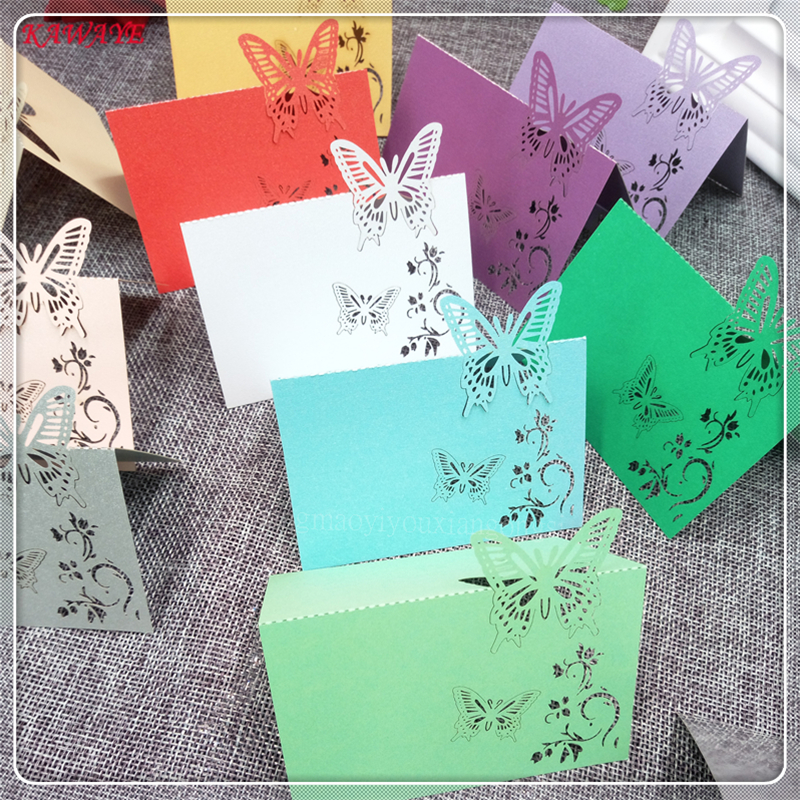100pc celebration name table place card personality laser