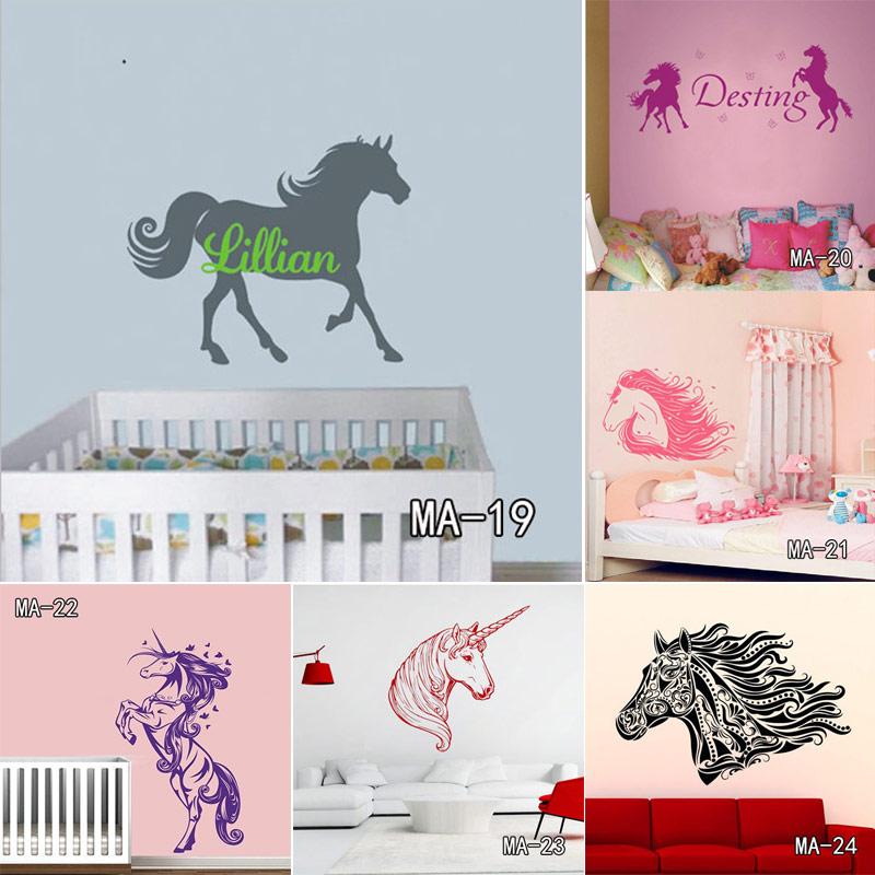 muy hermoso caballo cuarto de nios nias y nios dormitorio tatuajes de pared decoracin etiqueta del