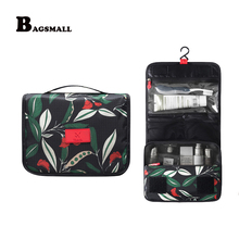 BAGSMALL Portable Beautician Toiletry Bag Hanging Cosmetic Bag Waterproof Makeup Organizer Folding Travel Accessories Suitcase