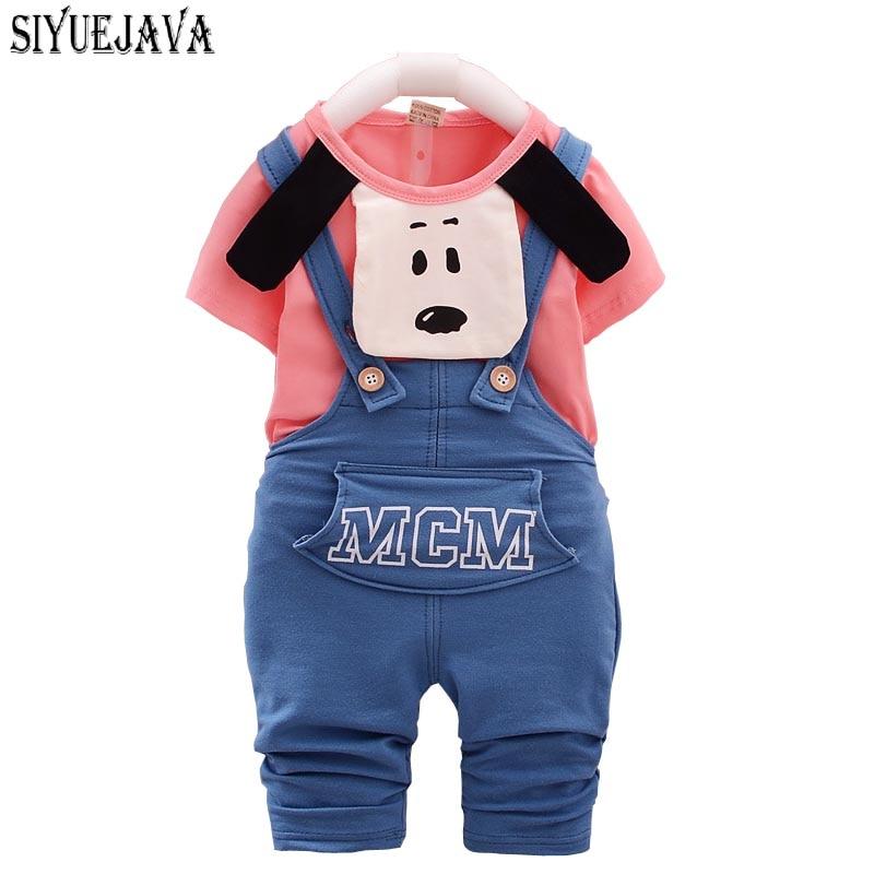 Sommarhöststil Babypojkvänklädsel Bomull Babybyxor Kortärmad - Babykläder