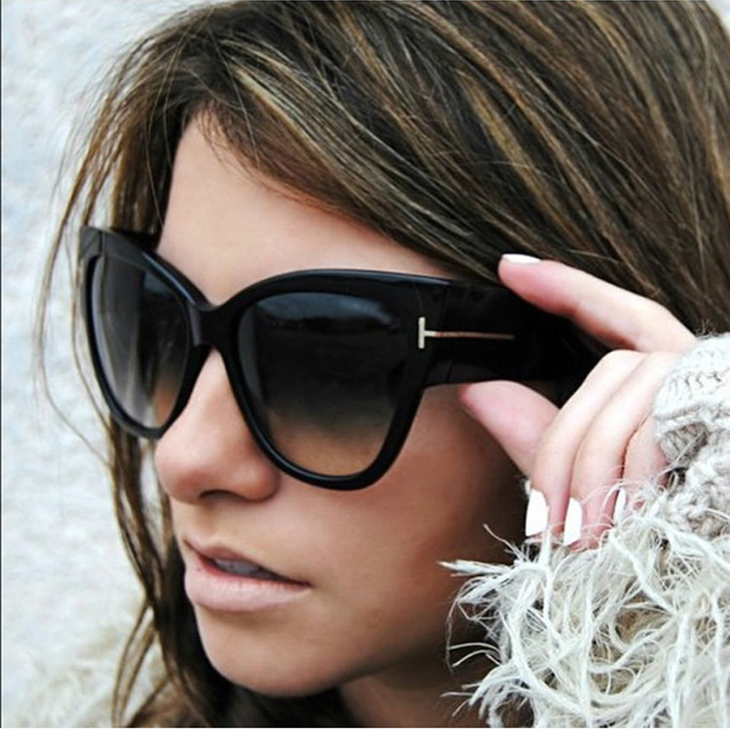 Fashion Cat Eye Solbriller Kvinner Retro Brand Designer Wood Grain Sun Glasses For Ladies Vintage UV400 Female 0 RS015