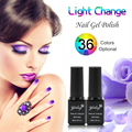1Pcs Light Change UV Nail Gel Polish 6ml Color Varnish Gelishgel for Nails Art Professional Use 36 Colors Optional