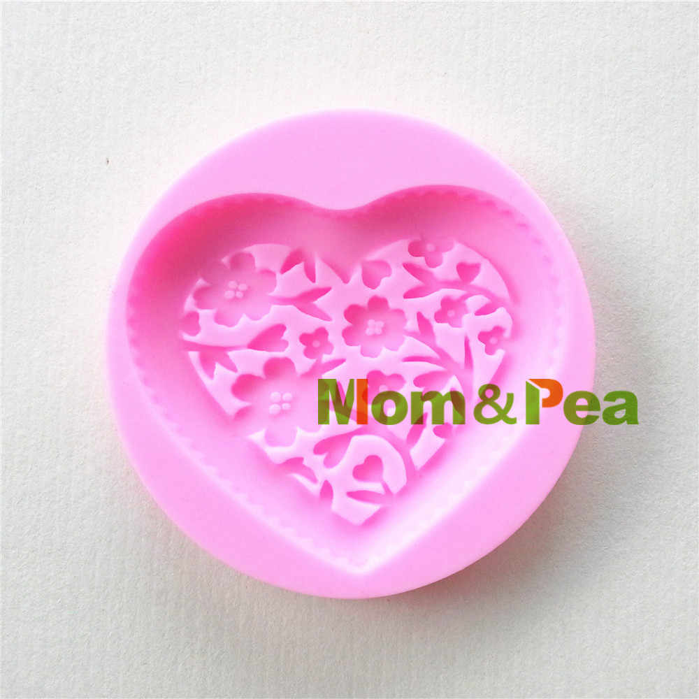 Mom & erwt 0930 gratis verzending bloemen hartvormige silicone mold cake decoratie fondant cake 3d mold food grade
