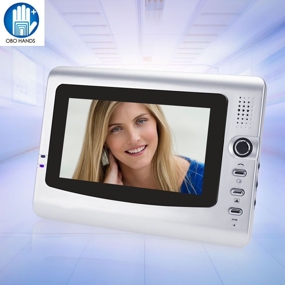 7 inch TFT LCD Color Video Intercom System Door Phone Indoor Monitor Scree Without IR COMS Outdoor Camera Doorbell For Home 10 inch tft color video door phone intercom entry system black color video door bell monitor without outdoor camera high quality