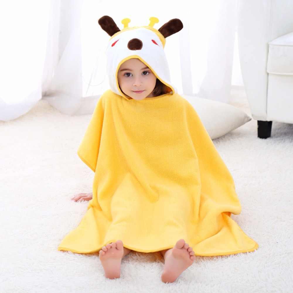 Детские мультяшный пончо полотенца пляжный плащ s для маленьких детей хлопчатобумажные купальные халаты солнцезащитный крем ванный комплект обувь девочек