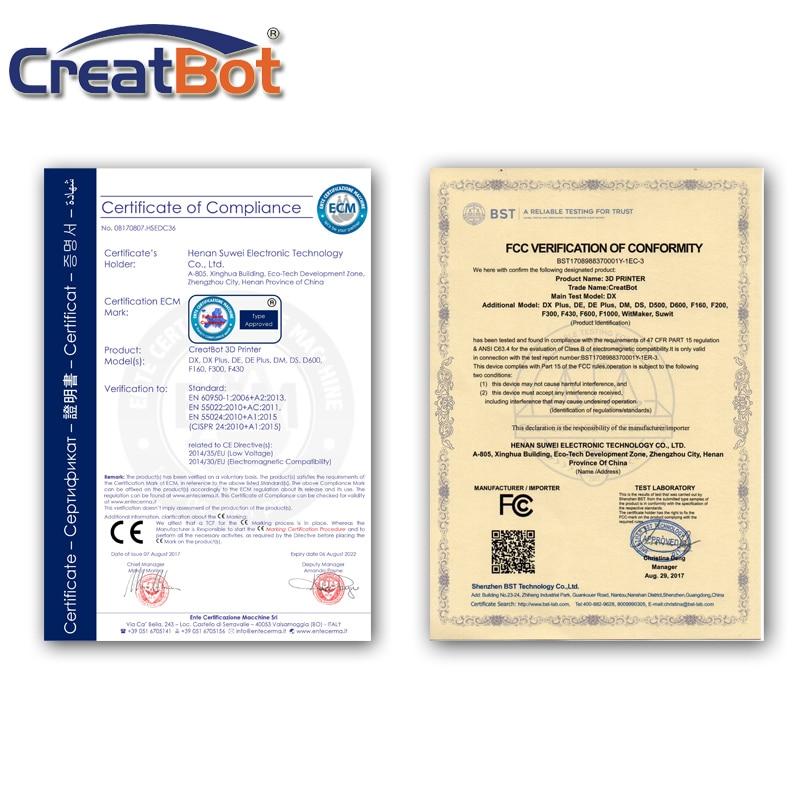 Creatbot DE plus 03 large format 3d printer dual triple extruders max - Office Electronics - Photo 6