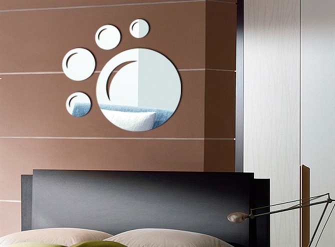 3D Love Mirror Wall Stickers For Kindergarten Shops Home Decoration Bedroom Mirror Big Feet 88