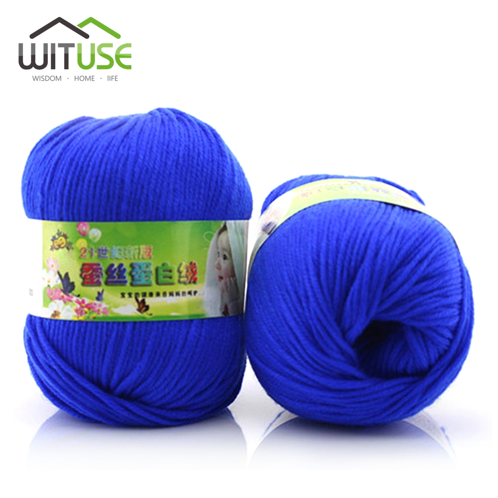 Cheap 50G/Ball Baby Silk Cashmere Yarn For Hand Knitting Quality Crochet Hook Protein Milk Yarn Threads Lanas Para Tejer Laine