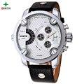 Men Sport Watches 2017 Stainless Steel Genuine Leather Fashion Casual Analog Waterproof Quartz Wristwatch Male Relogio Masculino