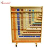 Математика Монтессори комплект ювелирных изделий из бисера и шкаф математические игрушки бусины настенные полки материалы montessori развиваю