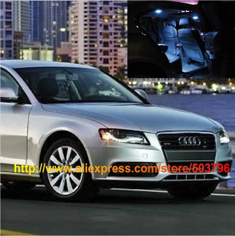 Free Shipping 10pcs/lot car-styling White Interior LED Lights For Audi A4 B8 2009-2012