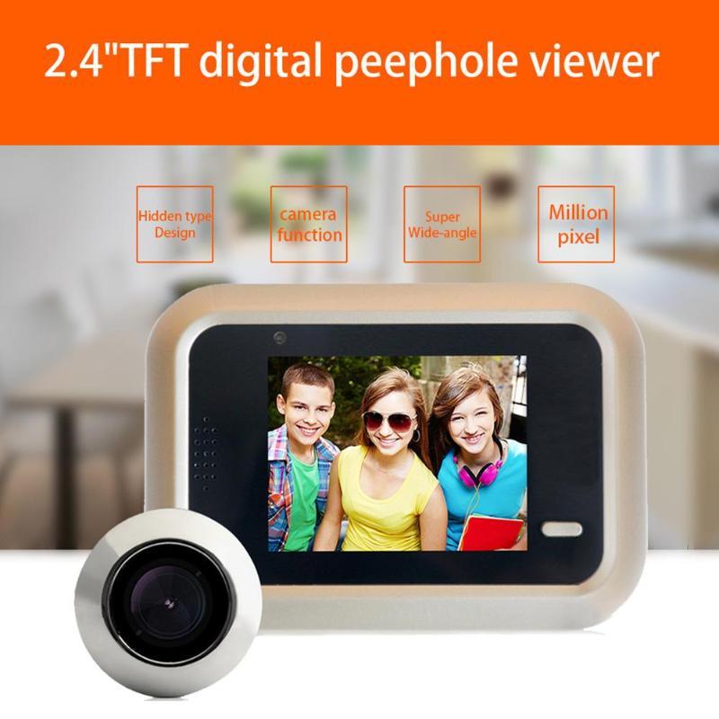 2,4 дюймов ЖК-дисплей Цвет Экран Беспроводной дверной звонок Wi-Fi видео Home дверь домофон Системы цифровой глазок дверной звонок
