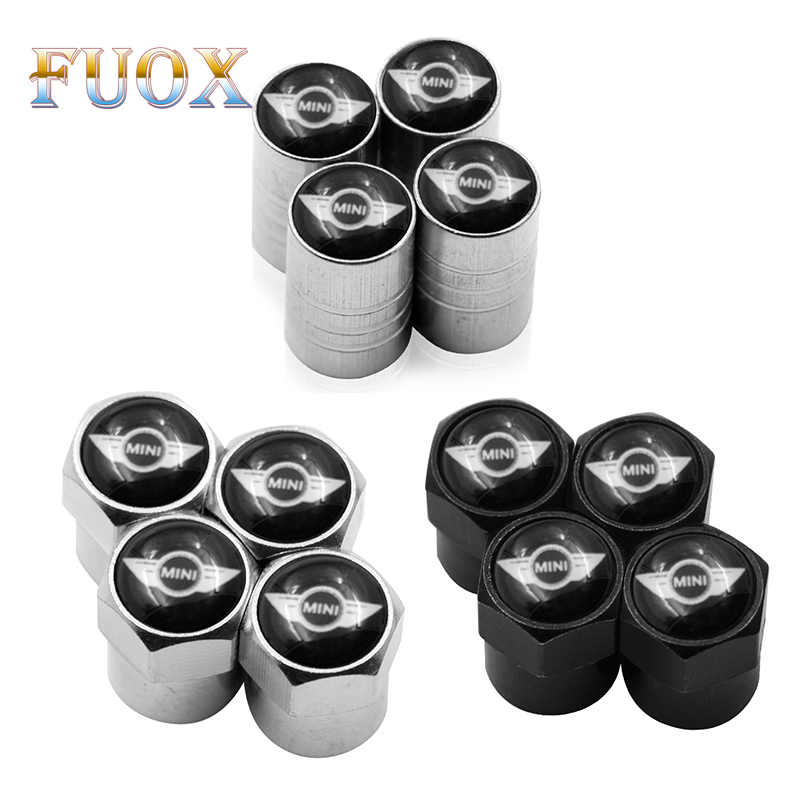 4pcs Car Wheel Tire Valves Tyre Air Caps Case For Cooper 2011 2012 2013 Car Accessories Motorcycle Automobiles
