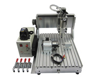 4 axis wood machinery 3040 VFD1.5KW spindle metal 3D cnc router