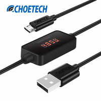 CHOE 1m Micro USB Cable With LCD Current Voltage Monitor USB A To Micro USB Cable