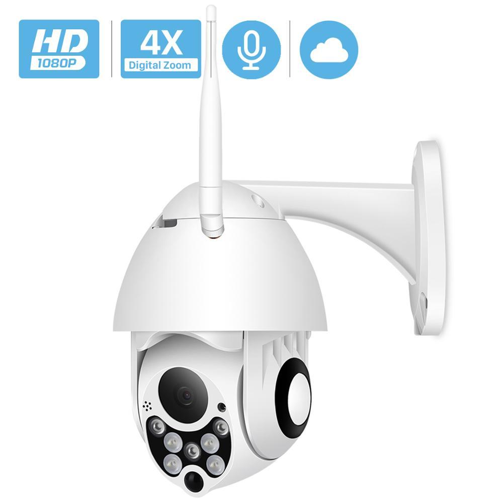 1080P PTZ IP Camera Outdoor Speed Dome Wireless Wifi Security Camera Pan Tilt 4X Zoom IR