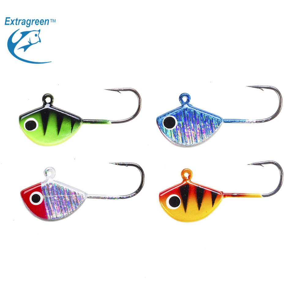 4pcs/lot Clam Blade Jigs Ice Lures 25mm/2.3g Ice Hook Mini Winter Fishing Lure Lead Fish пластина ada ice blade 150 1000мм