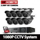 Hoge Kwaliteit 1080 p HD Outdoor Bewakingscamera 1080 p HDMI CCTV Video Surveillance 8CH 1080N AHD DVR Kit HDD AHD Camera Set