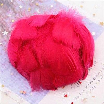 Натуральные гусиные перья 4-8 см, маленькие плавающие цветные перья лебедя, Плюм для рукоделия, свадебные украшения, украшения для дома, 100 шт - Цвет: wine red 100pcs