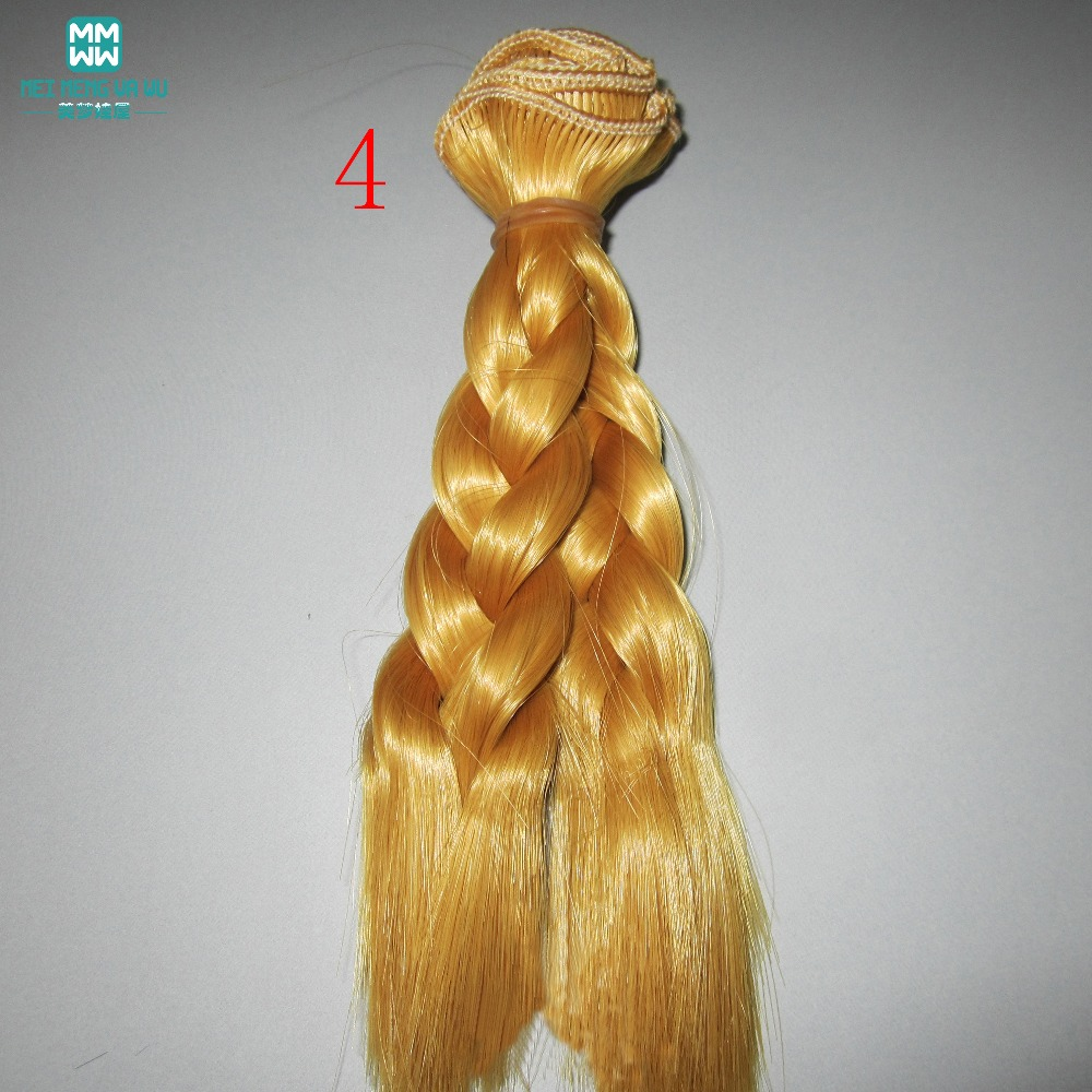 1 unids 15 cm y 25 cm * 100 CM trenza peluca Muñeca pelucas / pelo - Muñecas y peluches - foto 4