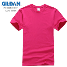 100% Cotton Gildan Brand Men T Shirt Short Sleeve Summer Casual Male Tee Clothing Tops Tees Plus Size XS-3XL Hot Sale