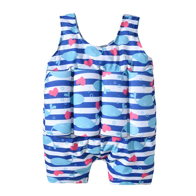 Summer Children Swimwear With Floating Foam Girls Boys Infant Baby Nylon Spandex Swimsuit Swimming Pool Suit(China)