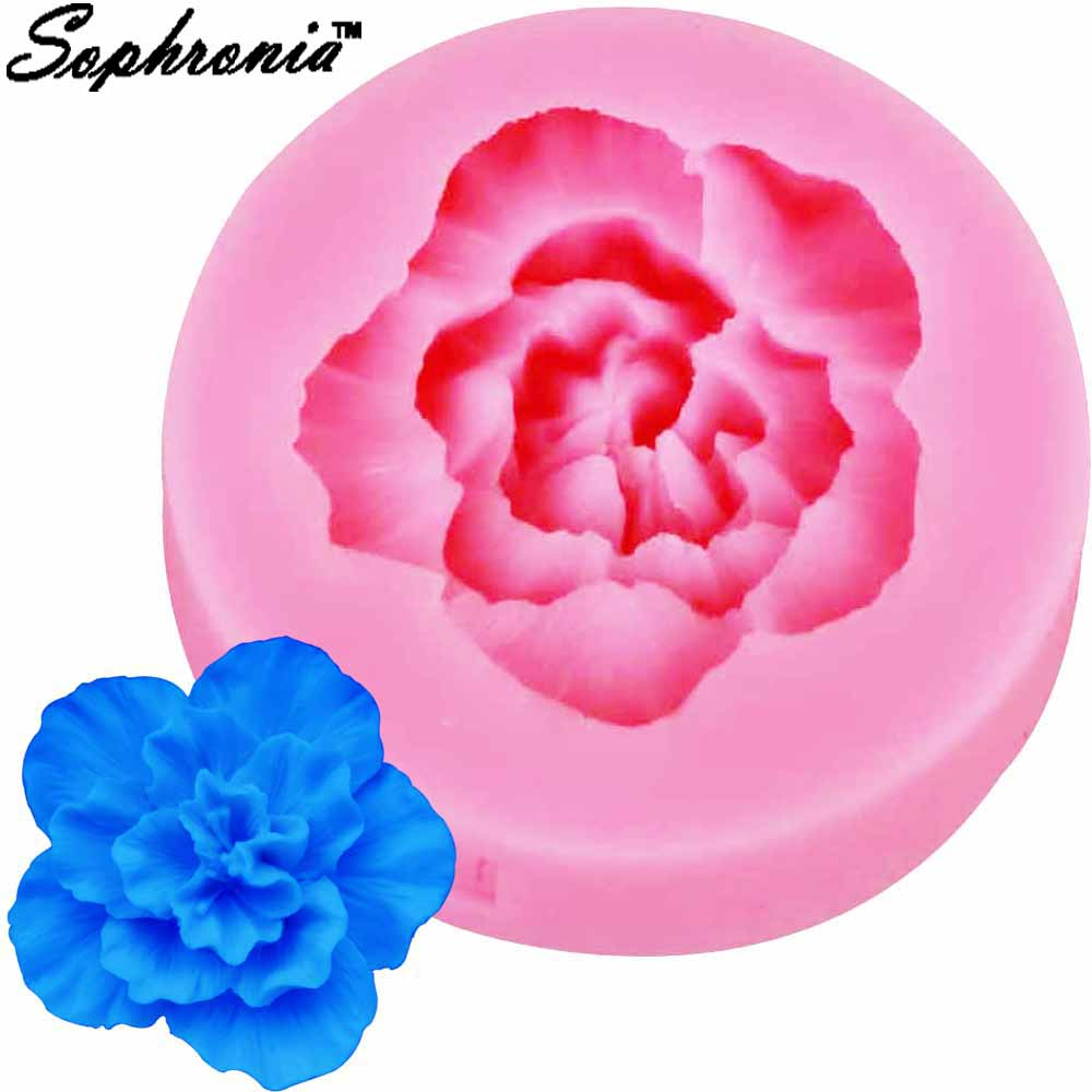 Aliexpress.com : Buy Sophronia Resin Rose Flower Silicone ...