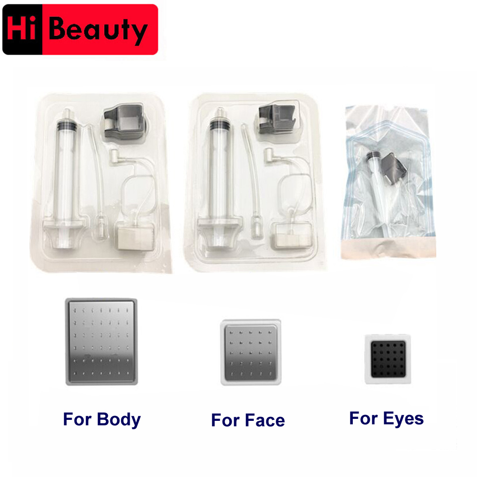 10PCS lot Disposable Photon Vanadium Titanium Crystal Injection Syringe Tubing Aesthetic Facial Restoration For MicroPower Gun