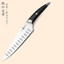 Fashional 8 zoll japanische kochmesser schwarz griff deutsch kohlenstoffstahl spiegelpolitur handgemachte fertigkeit sehr sharp
