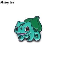 Flyingbee Bulbasaur Enamel Pin For Clothes Bags Backpack badge Personality Brooch Shirt Lapel Pins X0199