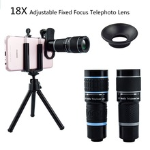 18X Telescope Zoom Mobile Phone Lens for iPhone 7 Plus Samsung Smartphones Universal clip Telefon Camera with tripod Stand