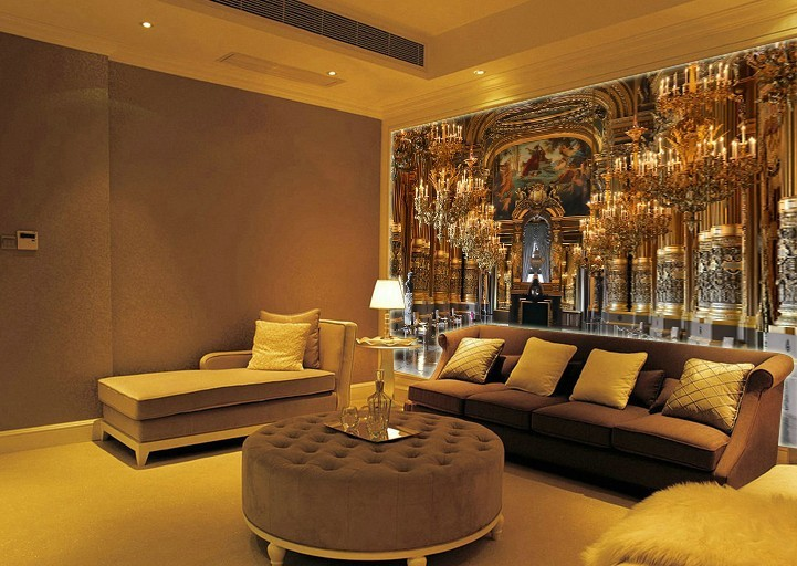 Backdrop Print Picture More Detailed Picture About European - Golden living room