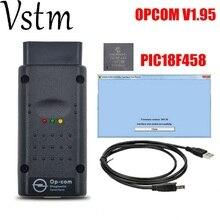 Pic18f458 Opel OP COM с PIC18F458 FTDI FT232RL чип OBD OBD2 инструмент диагностики для Opel OP COM CAN BUS диагностический кабель