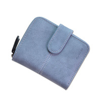 Nubuck Leather Women Short Wallets Ladies Fashion Small Wallet Coin Purse Female Card Wallet Purses Money