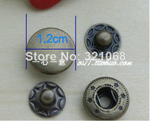 100 sets of 633 bronze copper snap button 1.2 cm buckle button button four folders advertising products