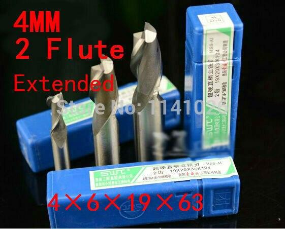 10 шт./компл. 4 мм два 2 флейты HSS и расширенный алюминиевый концевой мельница гравер с ЧПУ сверло фрезерные инструменты, режущие инструменты. токарный инструмент