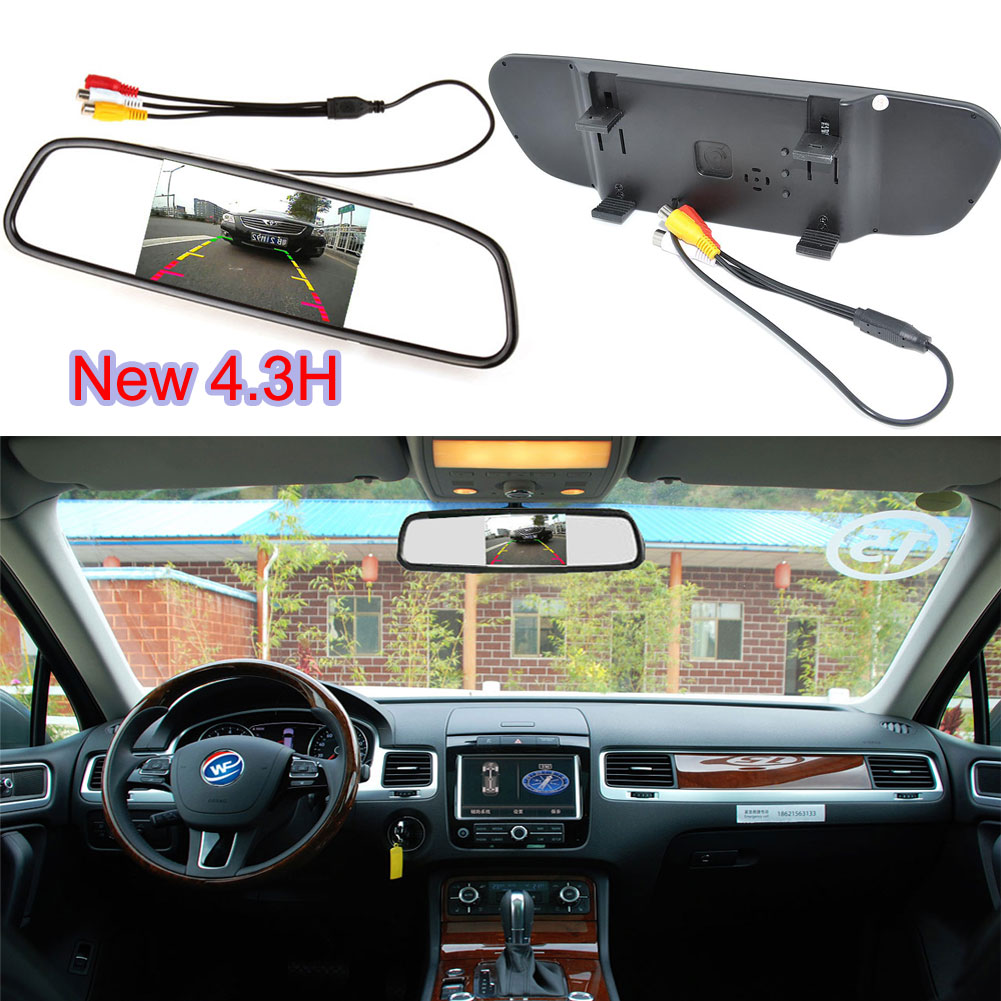 ⑥Car Auto Reverse Parking Rearview Mirror 4.3 Color Digital LCD ...