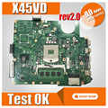 X45VD motherboard For ASUS X45VD laptop motherboard X45VD x45c mainboard Integrated rev2.0 X45VD motherboard test 100% ok