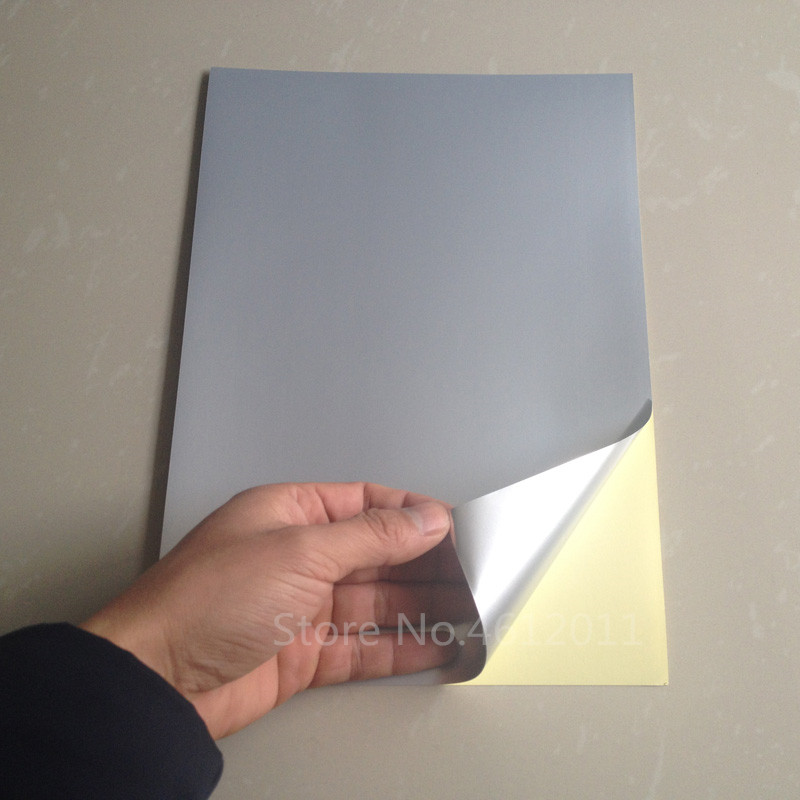 US $30 54 35% OFF|50 Sheets A4 Waterproof PET UV Coating Silver Film Self  Adhesive Sticker Printer Paper for Laser Printer-in Stickers from Home &