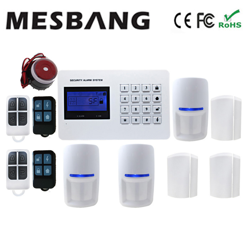 GSM alarm system home alarm system security home APP control with door sensor pir dectector motion alarm PSTN free shipping intelligent home security alarm system with new door sensor pir detector app control sms gsm alarm system support rfid keypad