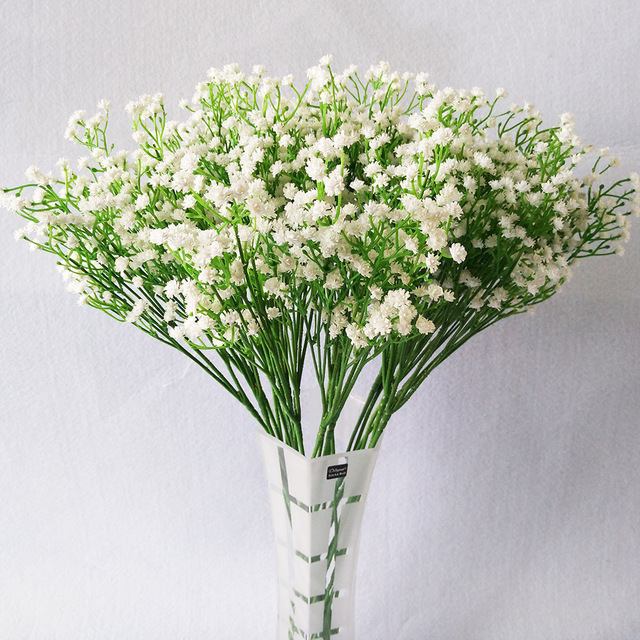 3pcsset artificial babys breath gypsophila flower plant white 3pcsset artificial babys breath gypsophila flower plant white color for wedding home hotel party mightylinksfo